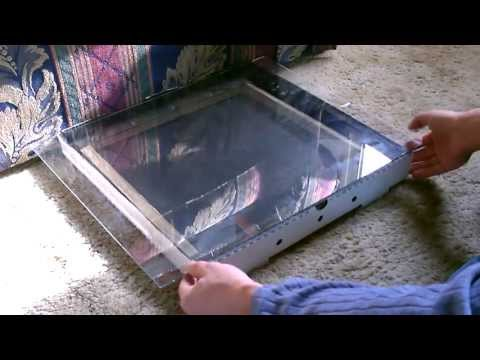 "Solar Food Dehydrator - simple DIY project - dries & preserves food -easy to make ""pizza box"" design"