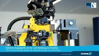 Bearbeitung mit dem Roboter parallel zur Maschinenzeit