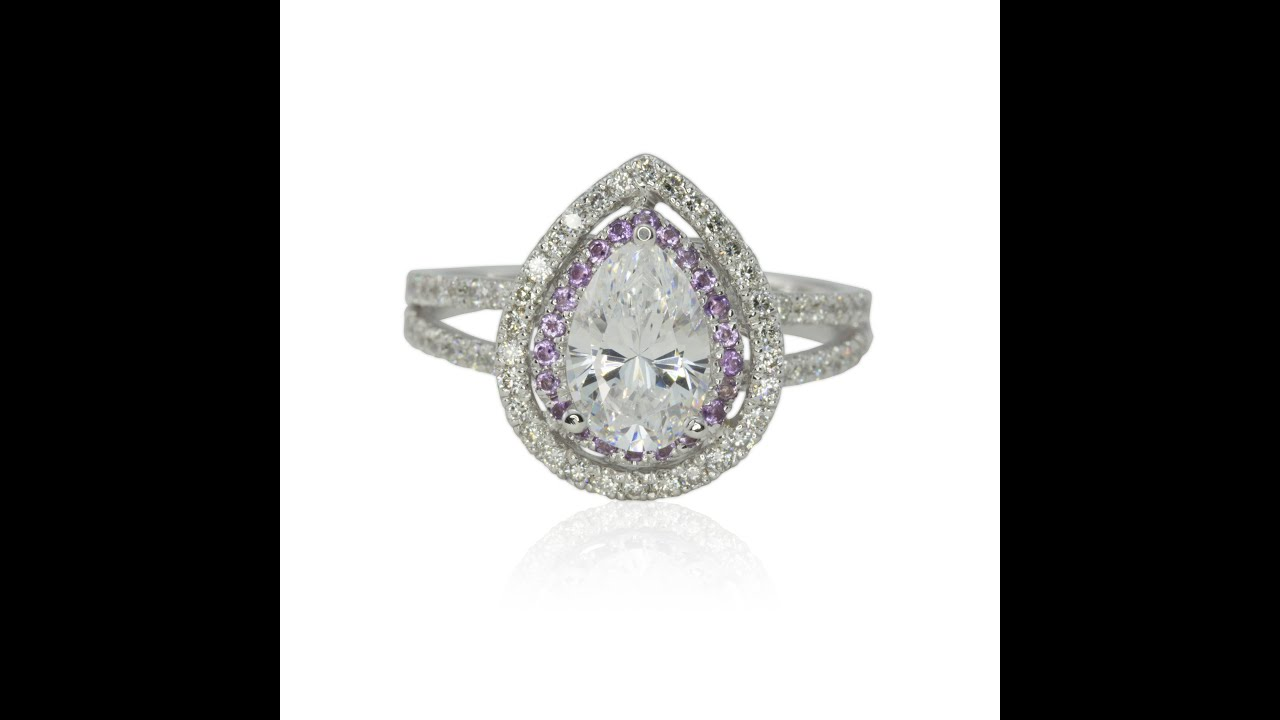 amethist silver with sterling ring amethyst zirconia rings heart cz products xpress cubic engagement crystals zodiac