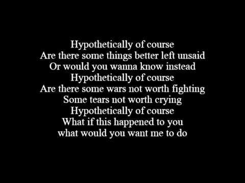 Hypotetically by Lyfe Jennings ft  Fantasia Lyrics)