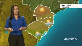 Previsão Sul – Chuva diminui e temperatura sobe