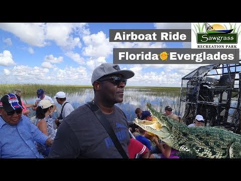 FLORIDA EVERGLADES AIRBOAT RIDE (Sawgrass Recreation Park)