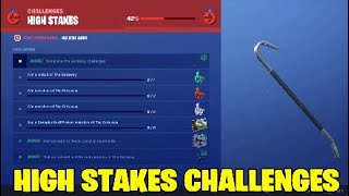 Fortnite High Stakes challenges. Are back with a few new challenges - FREE ITEMS