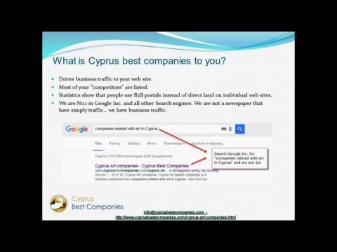 Cyprus Art Companies is a business directory for artists related to Cyprus