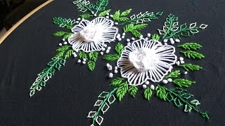 Hand embroidery designs. Brazilian embroidery. cast on stitch.
