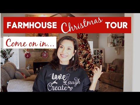 FARMHOUSE CHRISTMAS HOME DECOR TOUR 2019
