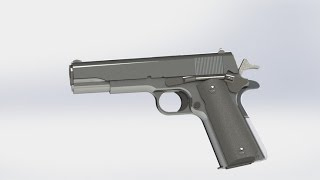 drawing colt 1911 with solidworks tutorial part 46 stoct lh plastic