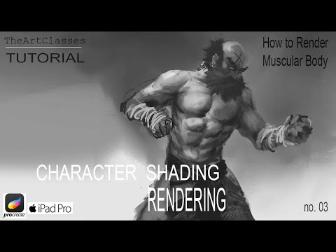 Procreate Tutorial: Shading muscles on a character | Rendering Technique thumbnail