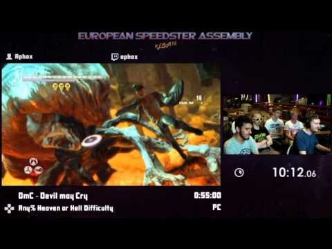 #ESA15Purple - DmC - Devil may Cry [ Any% Heaven or Hell Difficulty ] Speedrun by Aphox