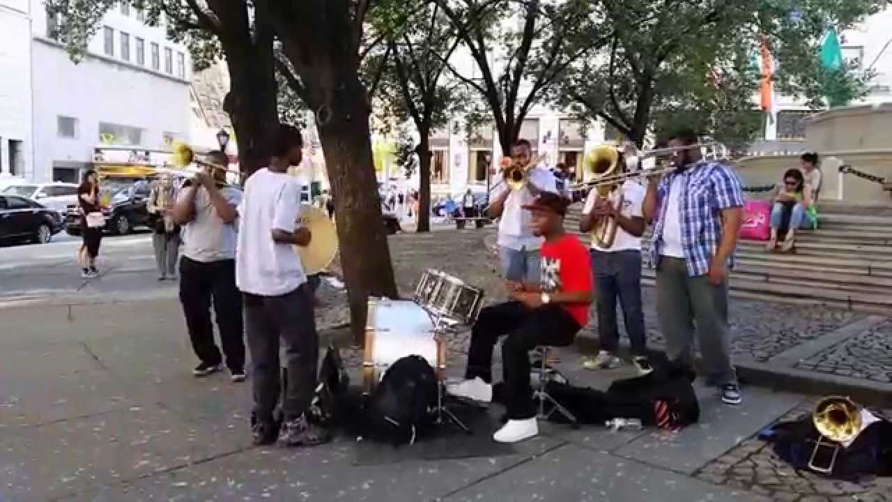 Trumpet Band, Street Musicians Performing In New York City. Asscher Cut Diamond Earrings. Gold Bangle Bracelet Designs. Delicate Stud Earrings. Shared Prong Engagement Rings. Large Lockets. Rope Chain Necklace. Natalie K Engagement Rings. Braided Rope Necklace