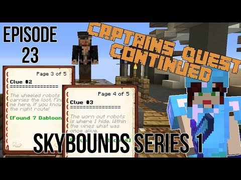 CAPTAINS QUEST FOR WHEELED & WORN OUT ROBOTS Minecraft Skybounds - Robots Island - Episode 23