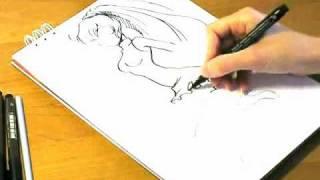 учимся рисовать японские комиксы(Оригинал данного видео вы найдете, пройдя по ссылке: http://goo.gl/6tylm., 2009-07-14T07:09:34.000Z)