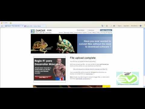 NUEVO -  Como convertir videos on line GRATIS !!!( Sin descargar programas) Zamzar.com