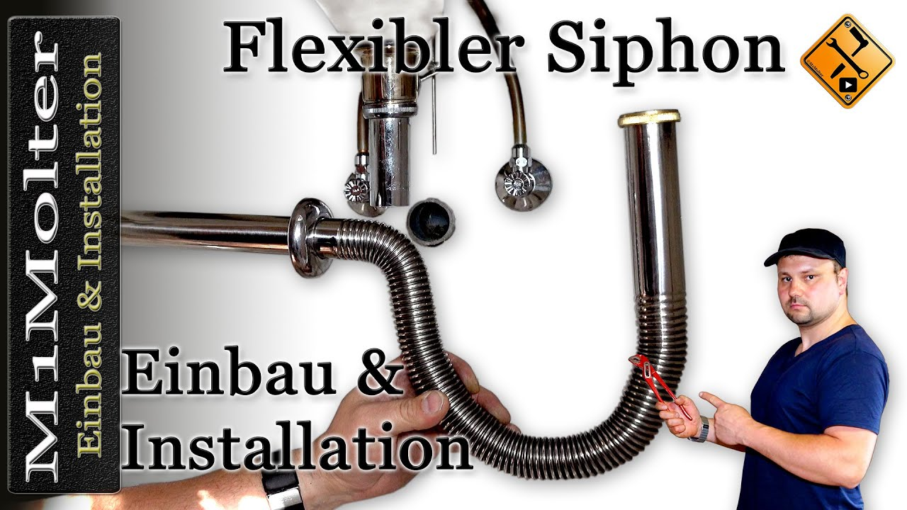 flexibler siphon wie wird er richtig installiert von m1molter youtube. Black Bedroom Furniture Sets. Home Design Ideas