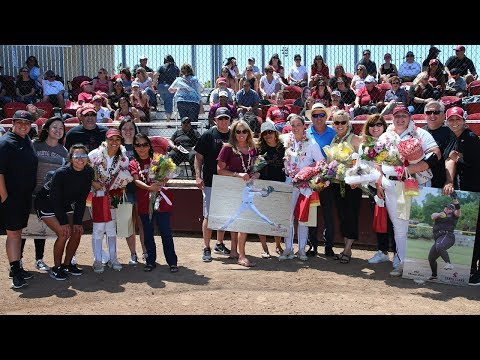 Softball Honors Fisher, James, Vierra on 2018 Senior Day