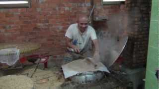 Adam D'Sylva cooking in Vietnam