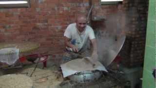 Adam D'Sylva cooking in Vietnam