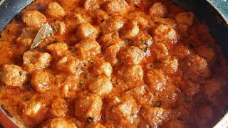 नये तरीके से बनाए सोयाबीन की स्वादिष्ट मसालेदार सब्जी | Restaurant style Soya chunks curry Recipe