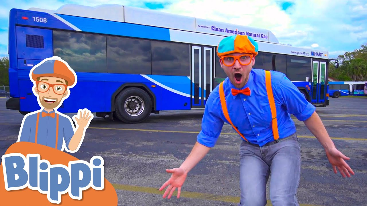 Download Blippi Explores a Bus! | Learn About Vehicles For Kids | Educational Videos For Toddlers