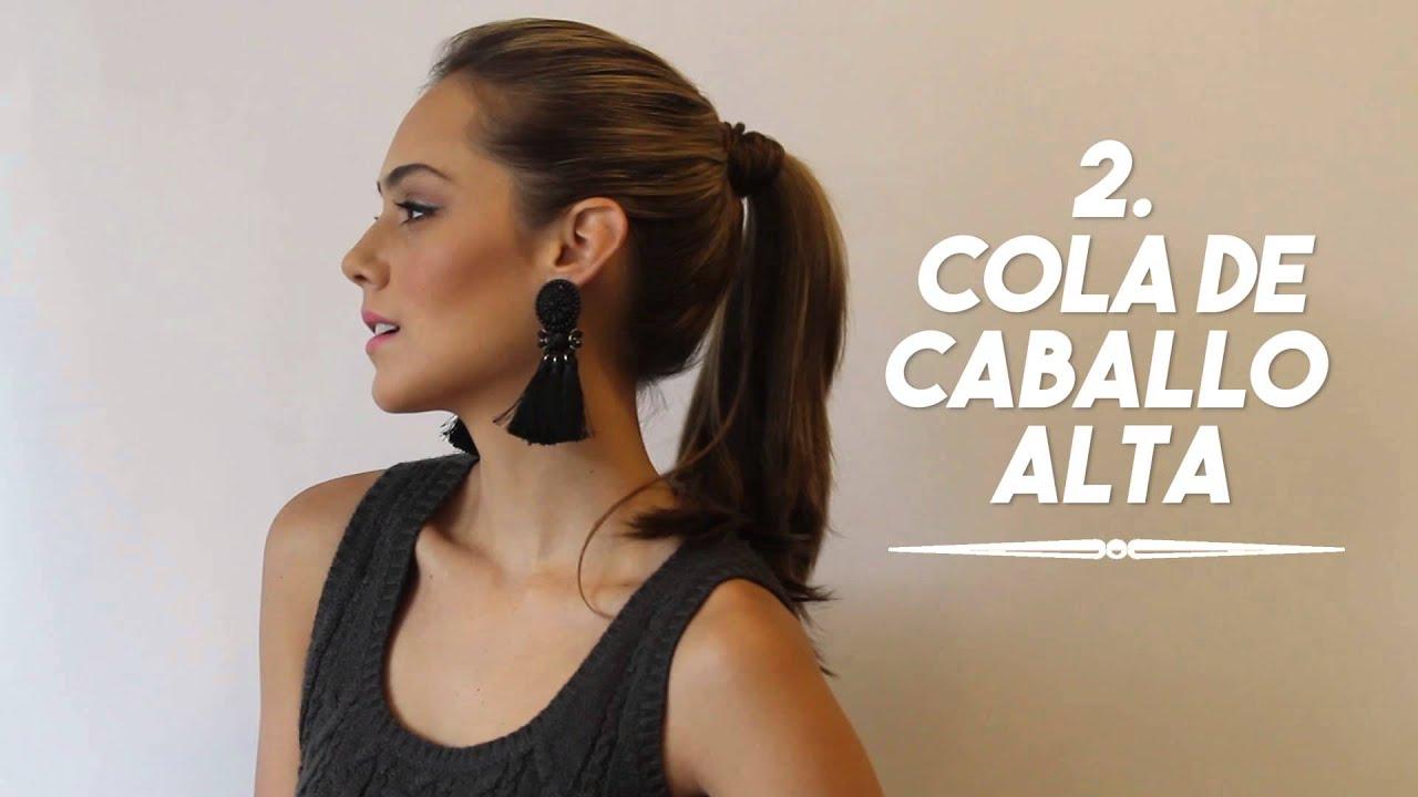 97dc8039c56d 4 Peinados para llevar aretes grandes - YouTube
