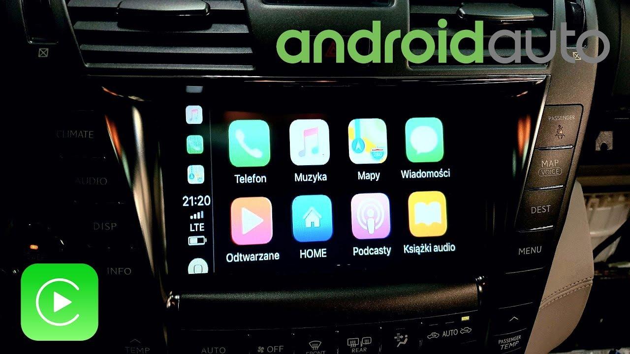 Telewizja, Android Auto, CarPlay w samochodzie (Lexus)