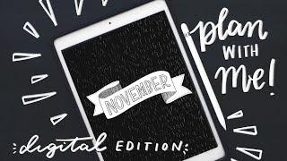 Digital Edition! ✨ November Bullet Journal Set-Up iPad Nature Storybook Theme...