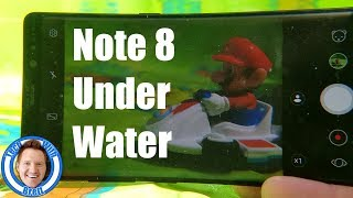 Using the Note 8 Under Water
