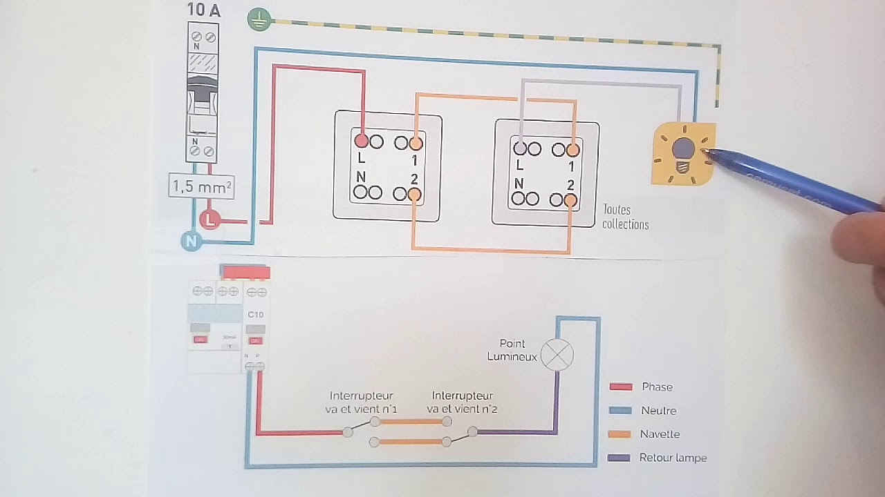 Branchement Interrupteur Double Va Et Vient By Schema