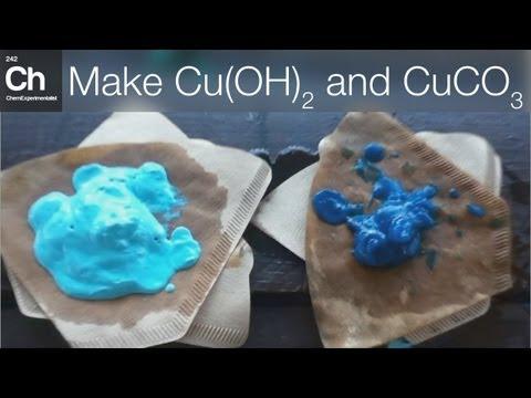 Make Copper hydroxide, Copper carbonate and Copper oxide (Cu(OH)2, CuCO3 and CuO)
