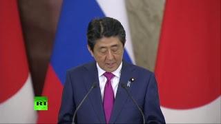 Пресс конференция Владимира Путина и Синдзо Абэ