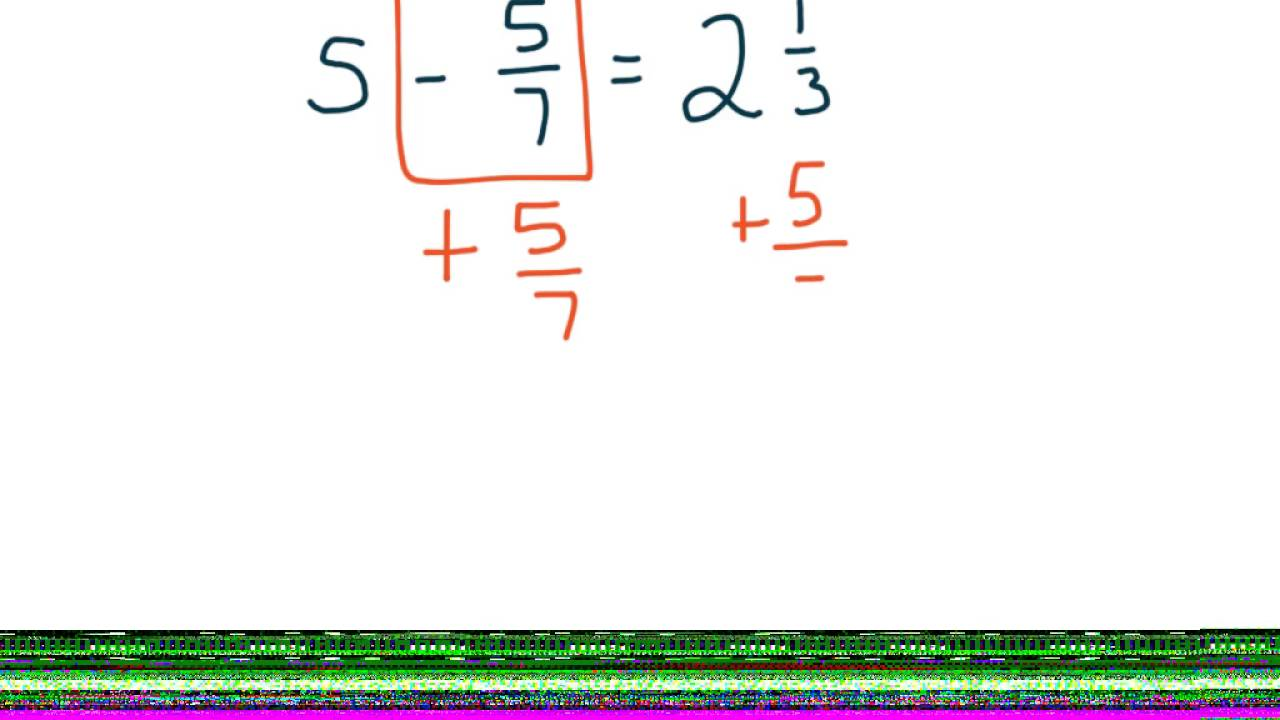 How To Solve Addition And Subtraction Fraction Equations