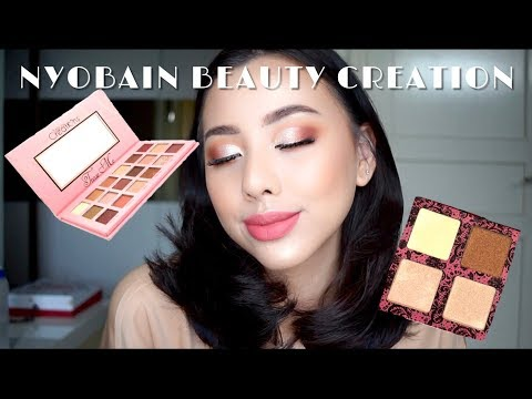NYOBA EYESHADOW & HIGHLIGHTER PALETTE 100RIBUAN?! + Drugstore Makeup Tutorial  || Ludovica Jessica