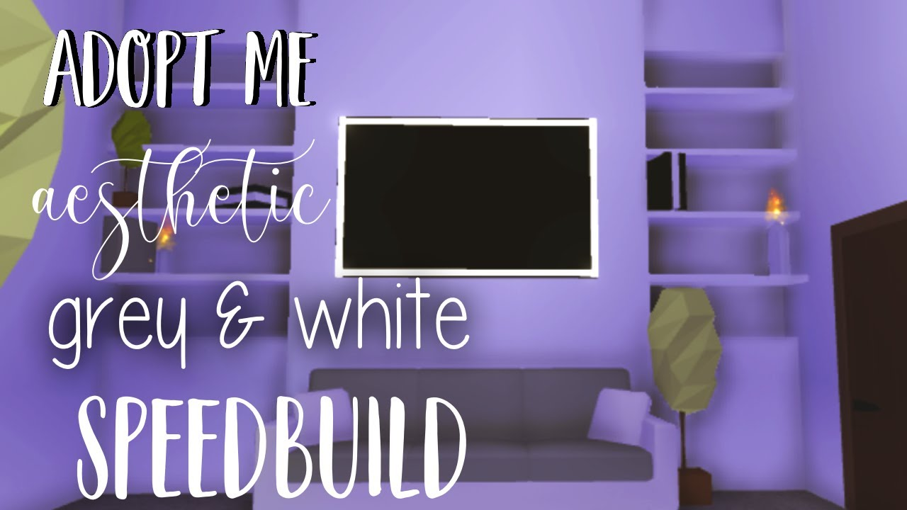 Aesthetic Adopt Me White Grey Bedroom Roblox Youtube