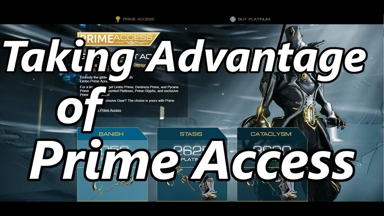 Quick Tip for Making Platinum: Prime Access