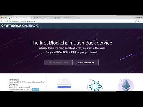CRYPTODRAW the first crypto cashback in the industry