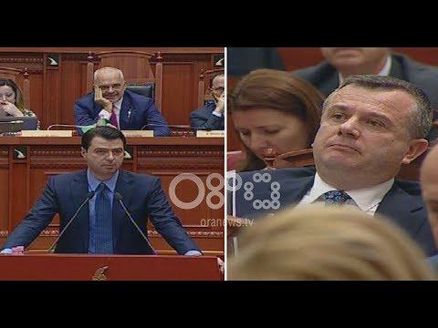 """Ora News - Basha i thotë """"m...t"""" Taulant Ballës në Parlament"""