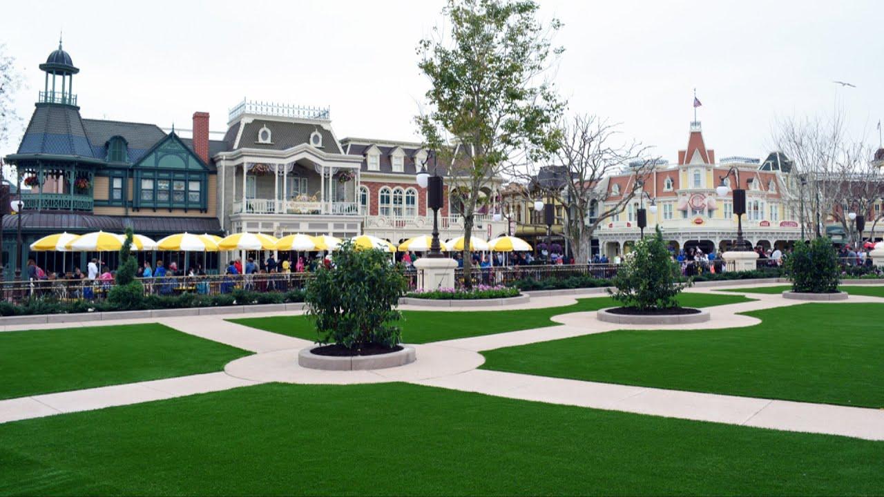 Magic Kingdom HUB Expansion   Plaza Garden East Full Tour Including  Fireworks Fastpass Area