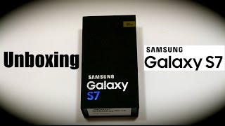 Unboxing Samsung Galaxy S7 Gold