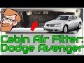 Dodge Avenger (2008 to 2013) Cabin Air Filter Replacement • Cars Simplified