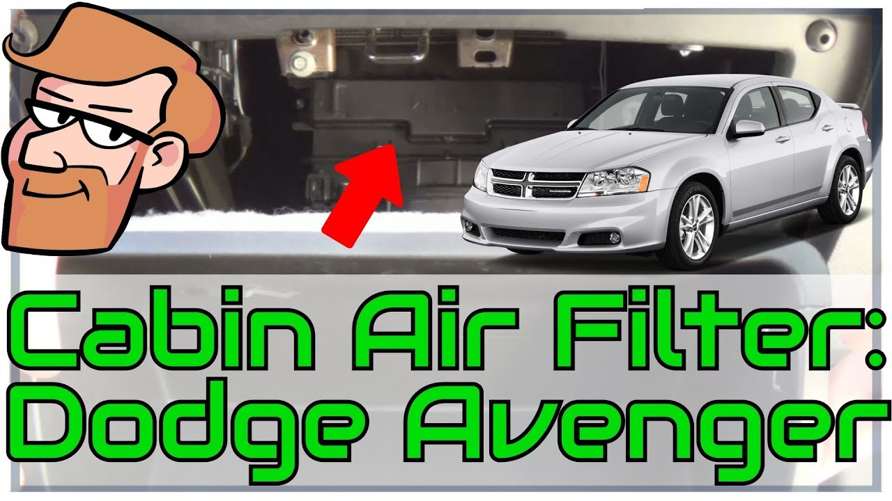 hight resolution of dodge avenger 2008 to 2013 cabin air filter replacement cars simplified