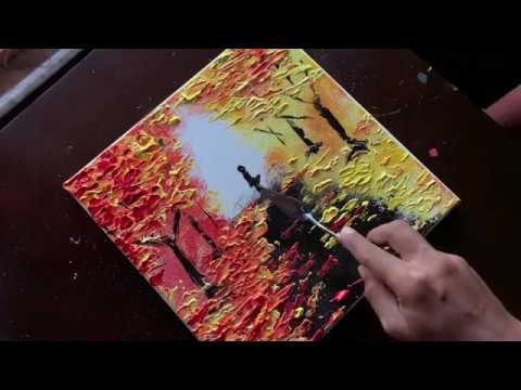 Falls Season| Simple Acrylic Painting Technique |For Beginners| Daily Art Therapy