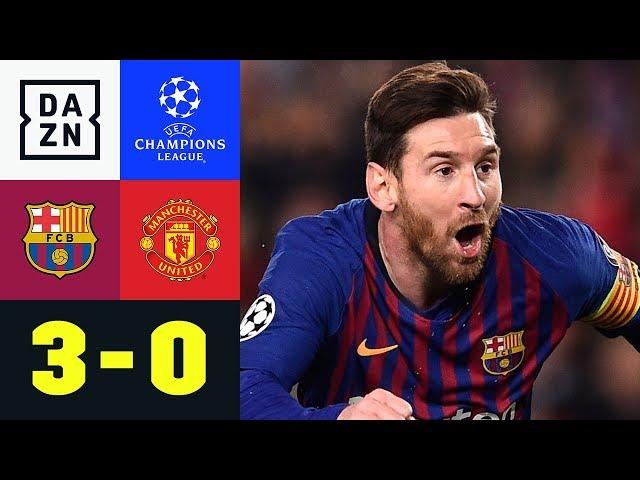 Lionel Messi zaubert und trifft doppelt: Barcelona - Manchester United 3:0 | Champions League | DAZN
