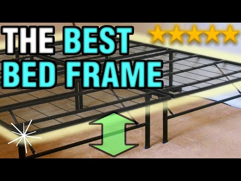 The Best Bed Frame | Raised Folding Metal Heavy Duty Cheap & Easy Bed Frame 2017