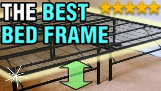 The Best Bed Frame | Raised Folding Metal Heavy Duty Cheap & Easy Bed Frame