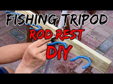DIY Fishing Tripod Rod Rest