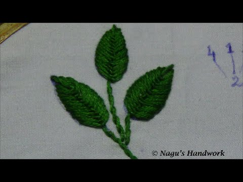 Fly Stitch Leaf Closed Hand Embroidery Tutorial By Nagus Handwork