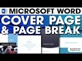 MS Cover Page & Page Break | Tutorial 7