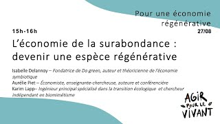 L'économie de la surabondance : devenir une espèce régénérative