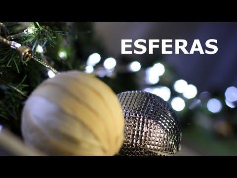 Como hacer 2 tipos esferas de navidad youtube - Esferas de navidad ...