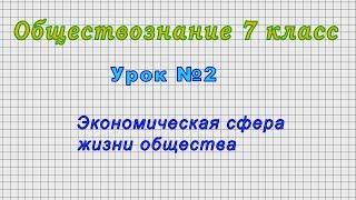 Обществознание 7 класс (Урок№2 - Экономическая сфера жизни общества.)